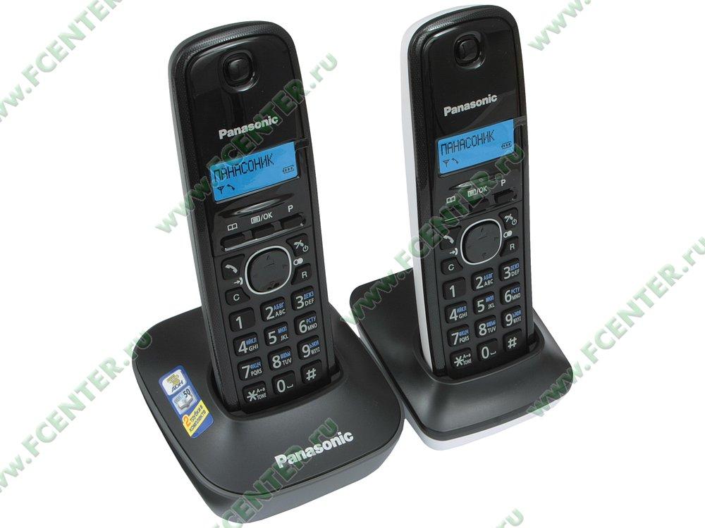 "Радиотелефон Panasonic ""KX-TG1612RU1"". Вид спереди."