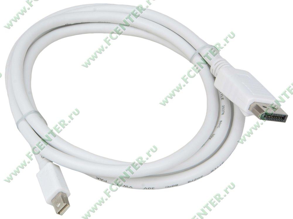 """Кабель-переходник DisplayPort<->mini DisplayPort Telecom """"TA681"""" (1.8м). Вид спереди."""
