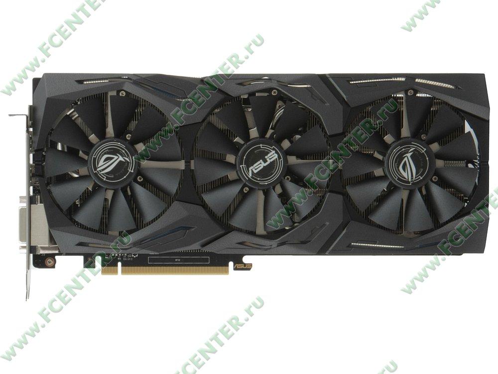 "Видеокарта PCI-E 6ГБ ASUS ""GeForce GTX 1060"" STRIX-GTX1060-6G-GAMING. Вид сверху."