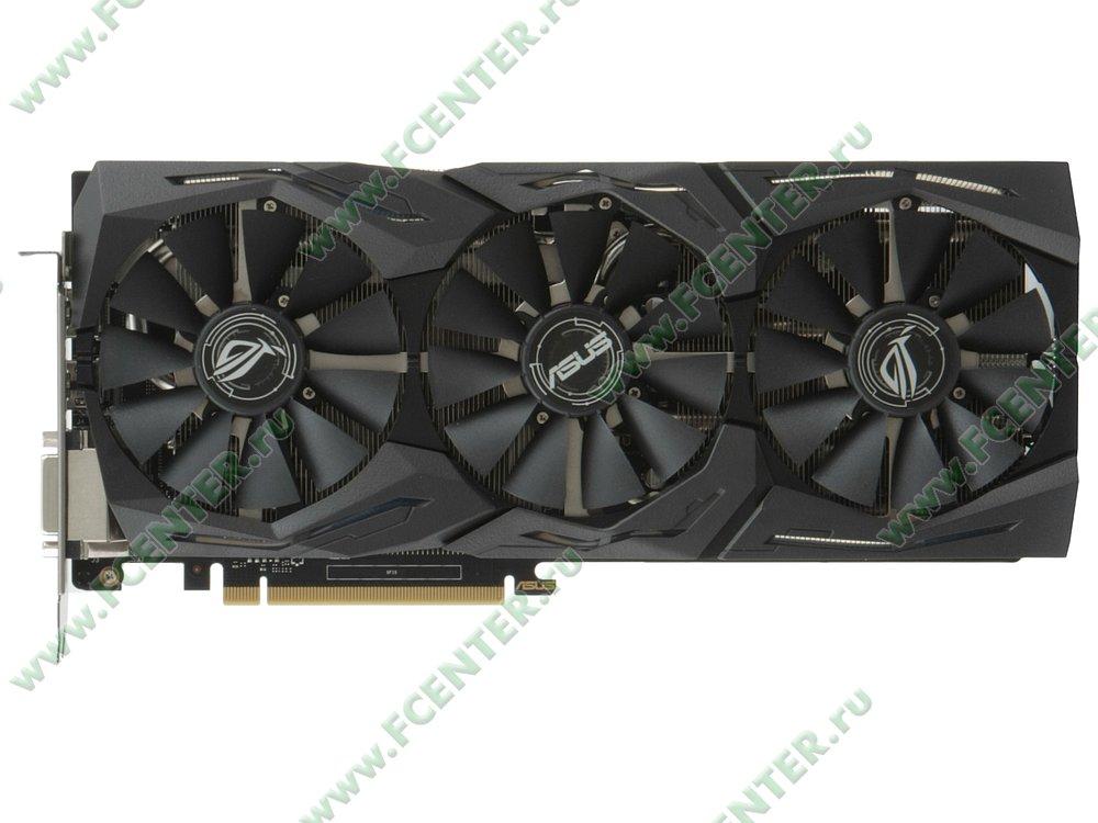 "Видеокарта PCI-E 6ГБ ASUS ""GeForce GTX 1060"" STRIX-GTX1060-O6G-GAMING. Вид сверху."