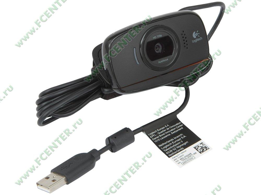 "Интернет-камера Logitech ""c525 HD WebCam"" (USB2.0). Вид спереди."