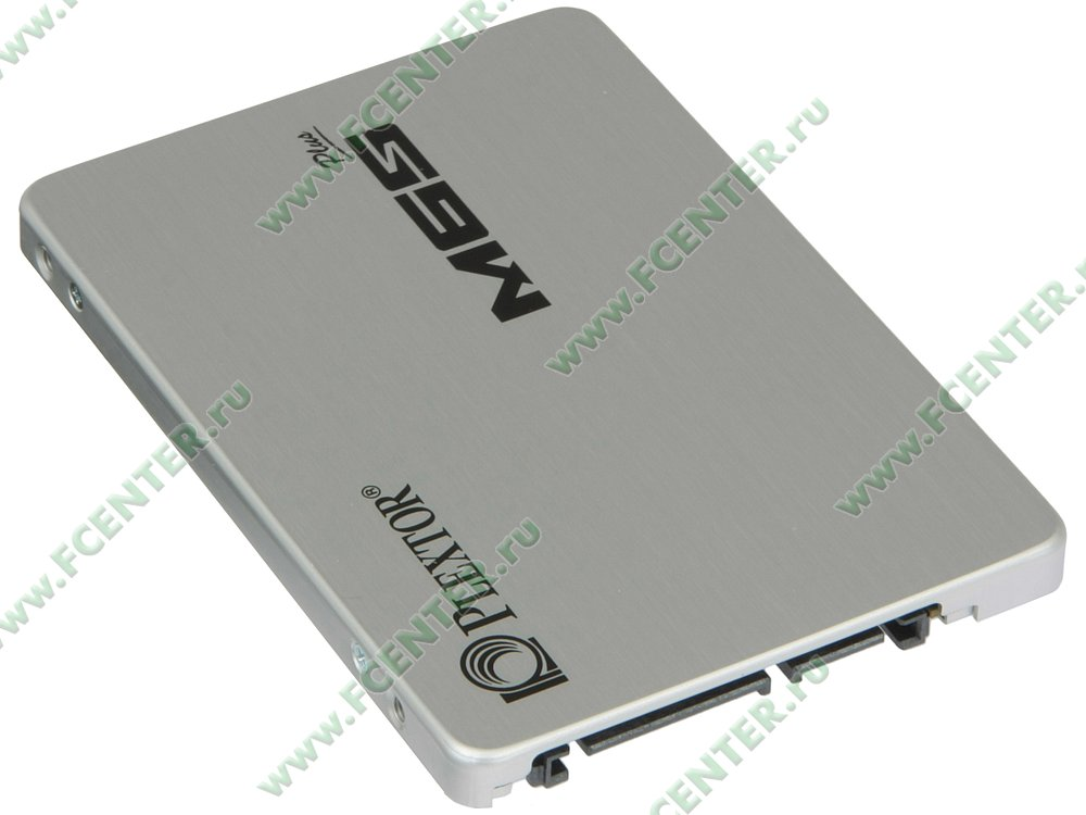 "SSD диск 256ГБ 2.5"" Plextor ""M6S Plus"" (SATA III). Вид спереди."