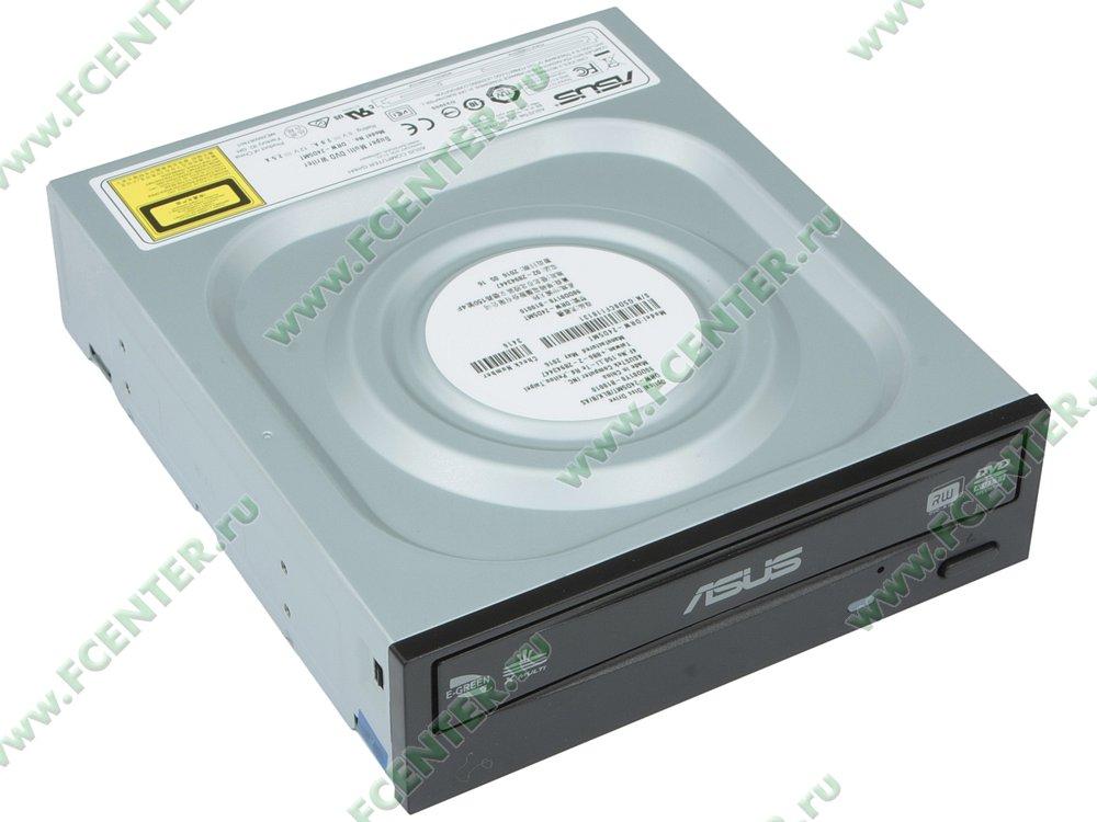 """Привод DVD±RW ASUS """"DRW-24D5MT"""" (SATA). Вид спереди 1."""