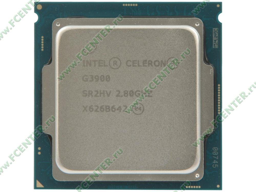 "Процессор Intel ""Celeron G3900"" Socket1151. Вид сверху."