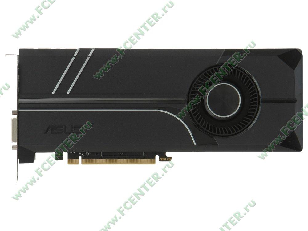 "Видеокарта ASUS ""GeForce GTX 1060 6ГБ"" TURBO-GTX1060-6G. Вид сверху."