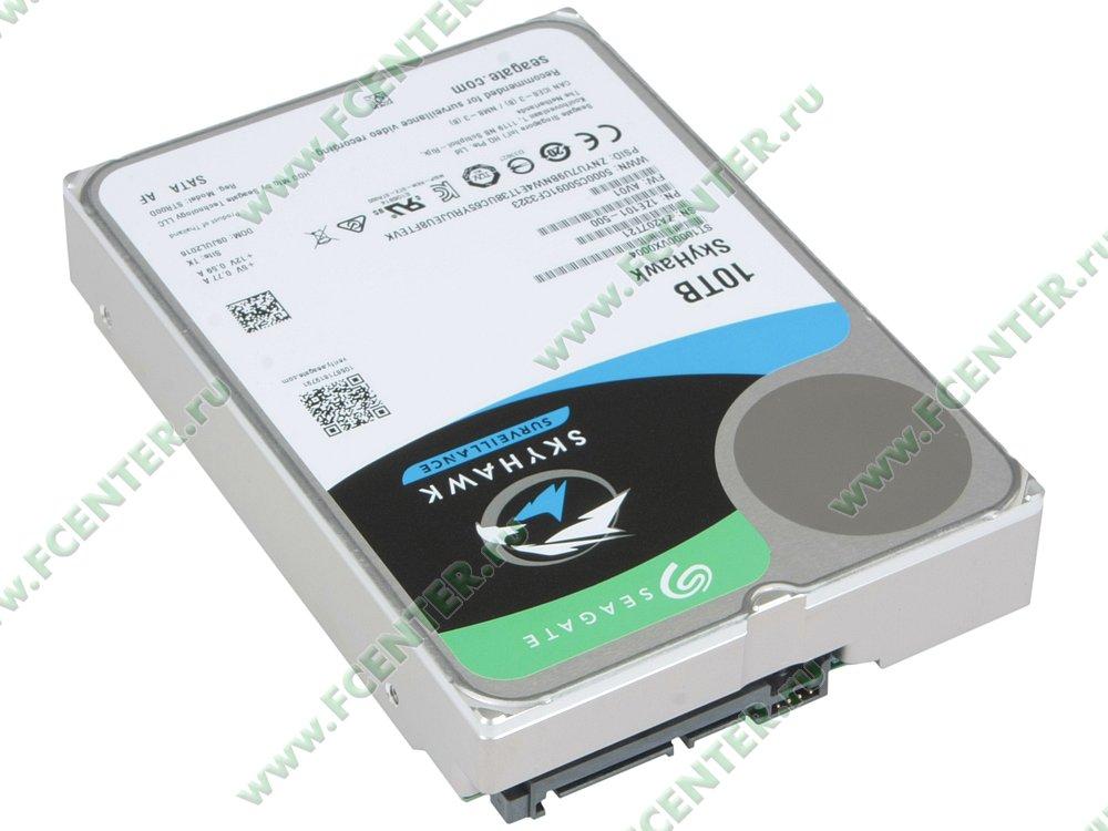 """Жесткий диск 10ТБ Seagate """"ST10000VX0004"""" (SATA III). Вид спереди."""