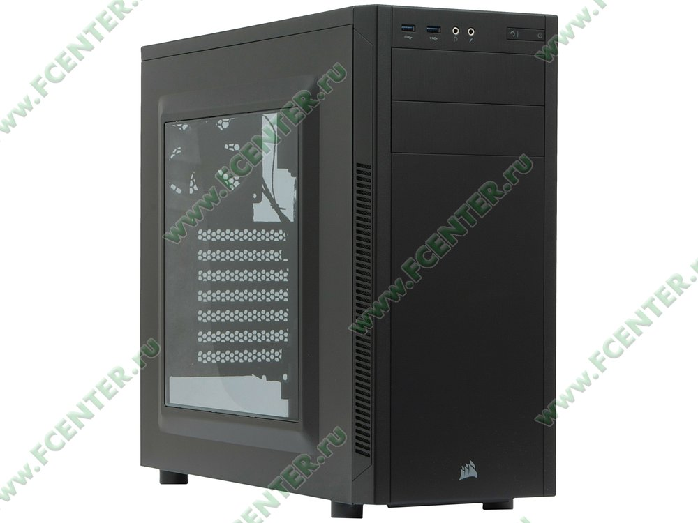 """Корпус Corsair """"Carbide 100R"""" CC-9011075-WW (без БП). Вид спереди 1."""