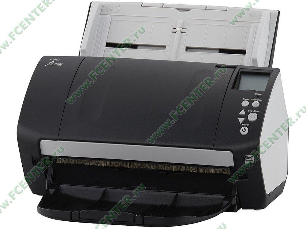"Сканер Сканер Fujitsu ""fi-7180"", A4, 600x600dpi, с автоподатч., серо-черный . Фото производителя."