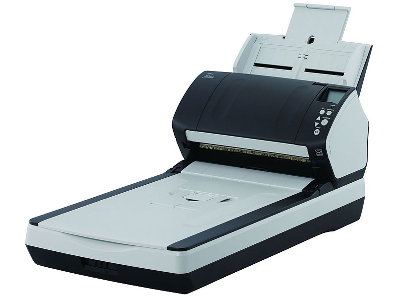 "Сканер Сканер Fujitsu ""fi-7280"", A4, 600x600dpi, с автоподатч., серо-черный . Фото производителя."