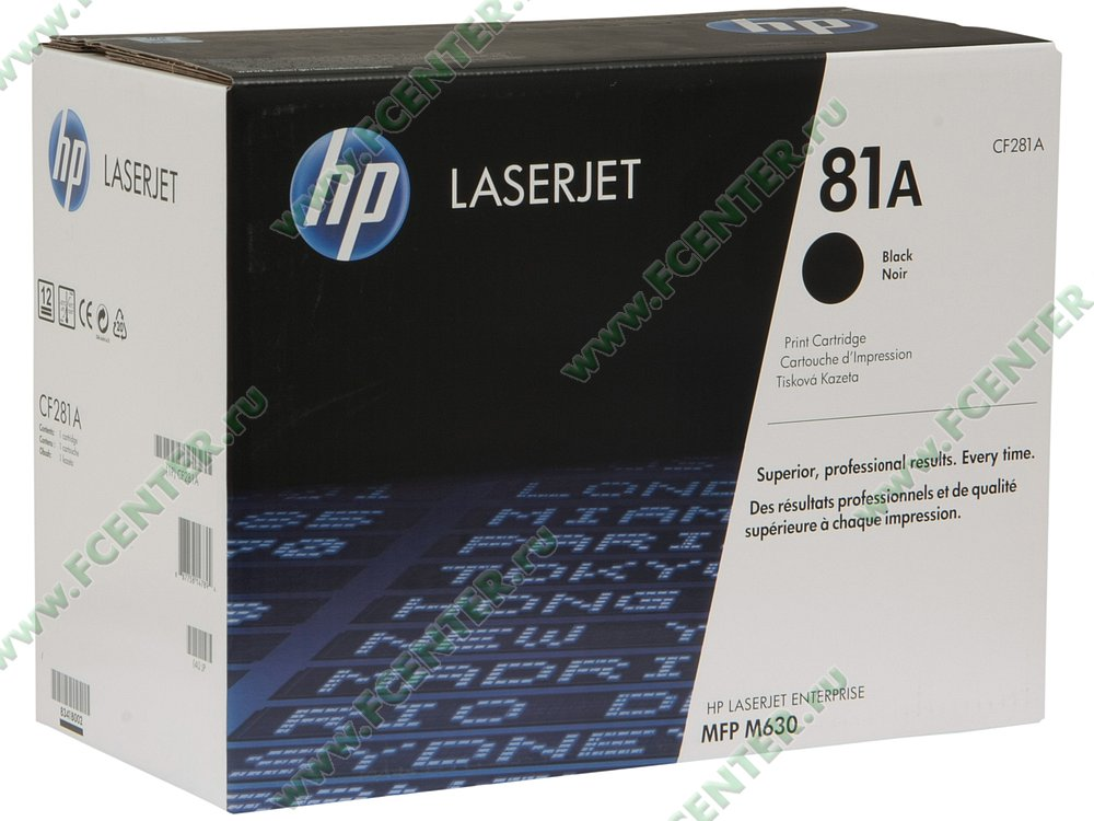 "Картридж HP ""81A"" (черный). Коробка."
