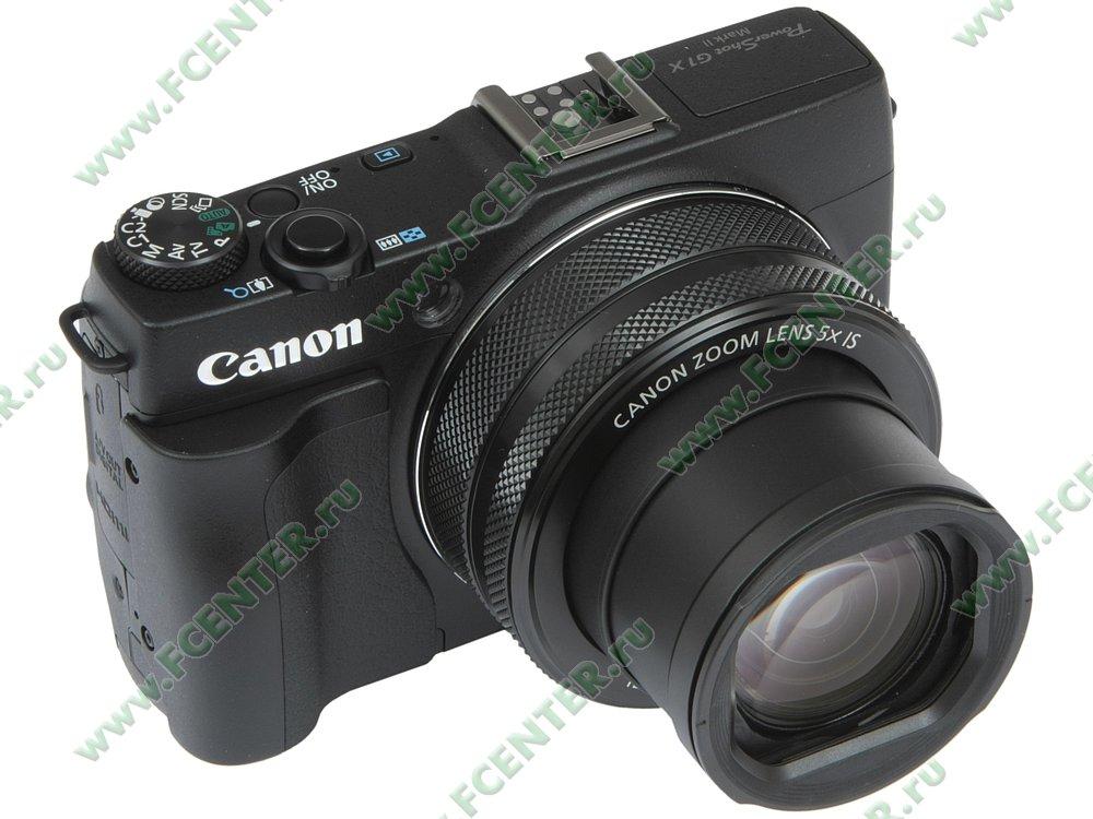 """Фотоаппарат Canon """"PowerShot G1 X Mark II"""". Вид спереди 1."""