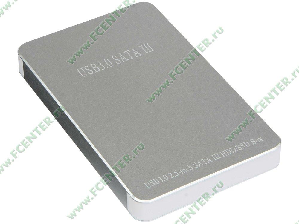 """Контейнер ORIENT """"2568 U3"""" для 2.5"""" SATA HDD (USB3.0). Вид спереди."""