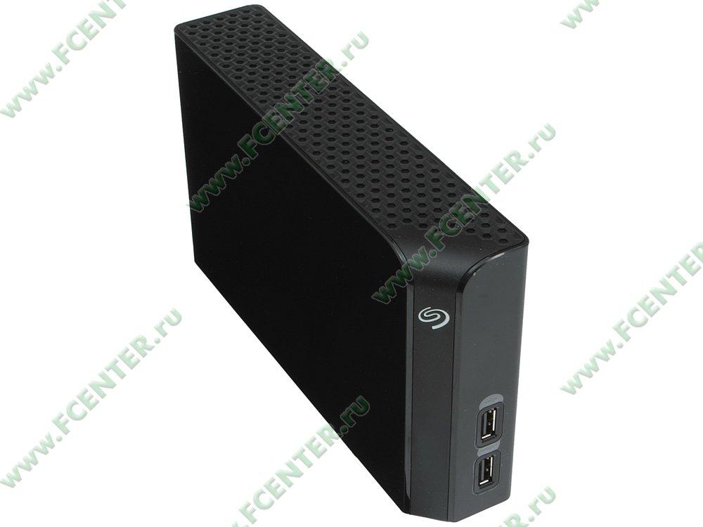 """Внешний жесткий диск 4ТБ Seagate """"Backup Plus Hub STEL4000200"""" (USB3.0). Вид спереди."""