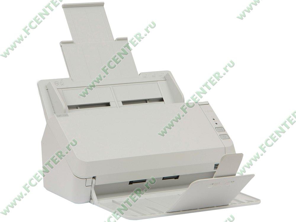 "Сканер Сканер Fujitsu ""SP-1120"", A4, 600x600dpi, с автоподатч., белый . Вид спереди."