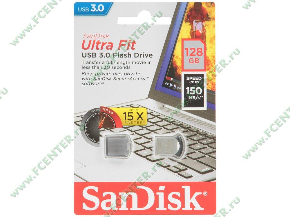 """Флеш-драйв 128ГБ SanDisk """"Ultra Fit"""" (USB3.0)"""