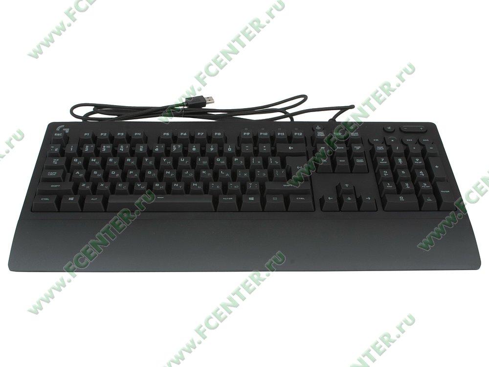"Клавиатура Logitech ""G213 Prodigy"" (USB). Вид спереди."