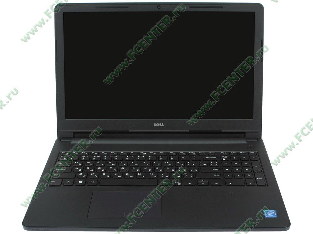 """Ноутбук Dell """"Inspiron 3552"""". Вид cпереди 1."""