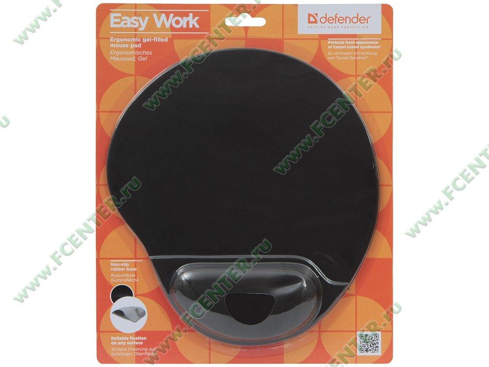 """Коврик Defender """"Easy Work Black"""". Коробка."""