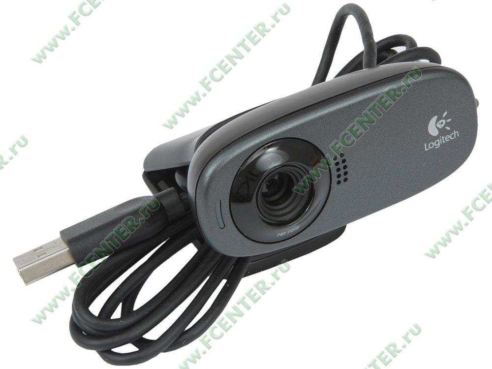 """Веб-камера Logitech """"c310"""" (USB2.0). Вид спереди."""