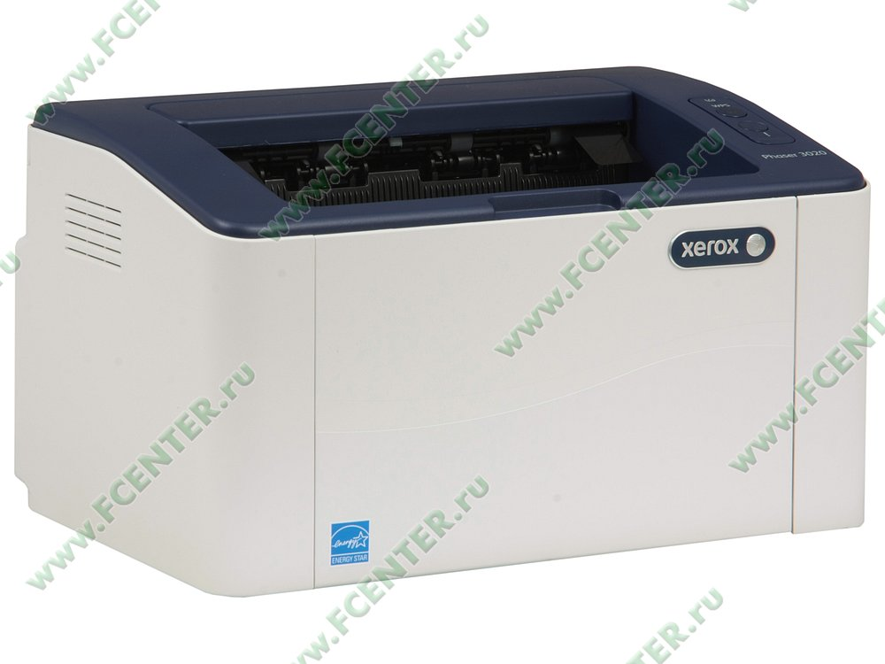 "Лазерный принтер Xerox ""Phaser 3020BI"" A4 . Вид спереди 1."