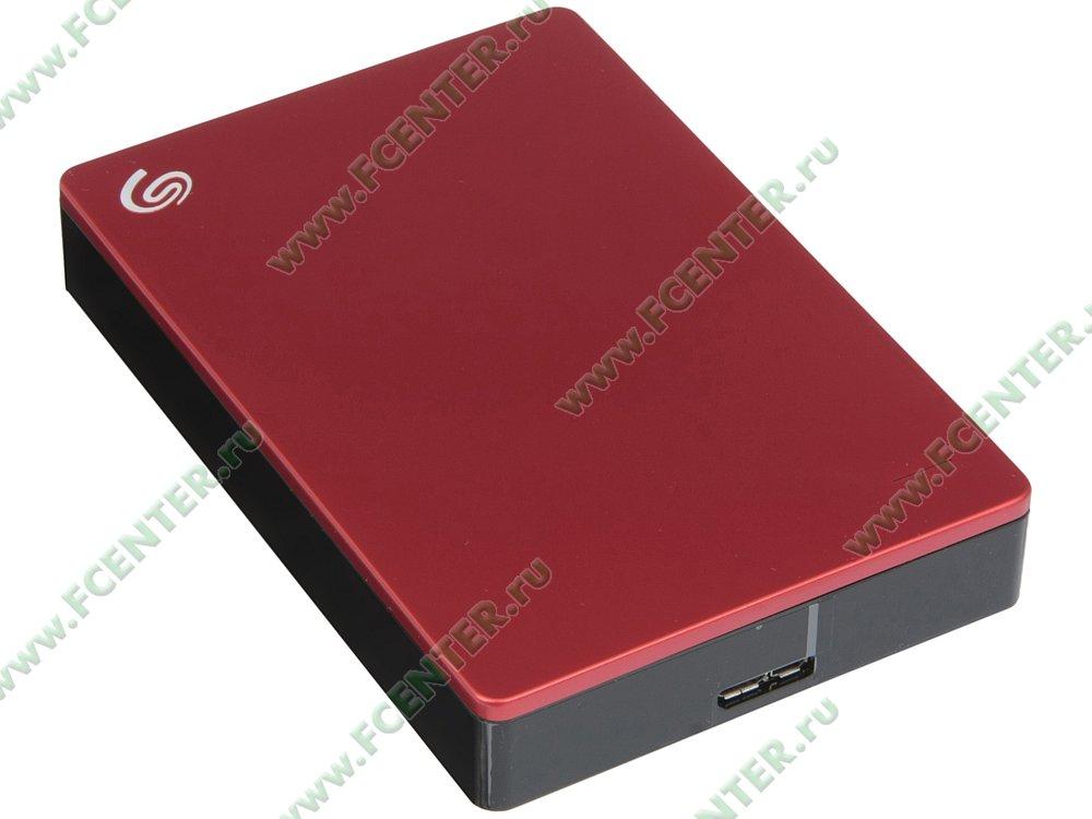 """Внешний жесткий диск 4ТБ Seagate """"Backup Plus STDR4000902"""" (USB3.0). Вид спереди."""