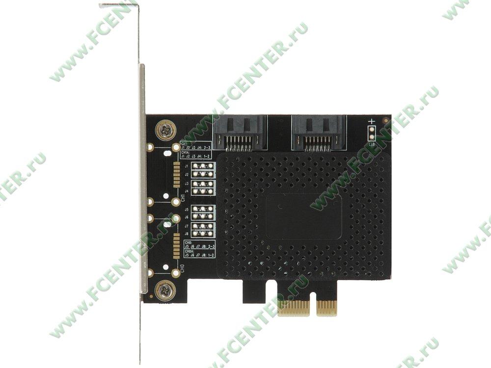 "Контроллер SATA III ORIENT ""A1061SL"" (PCI-E x1). Вид сверху."