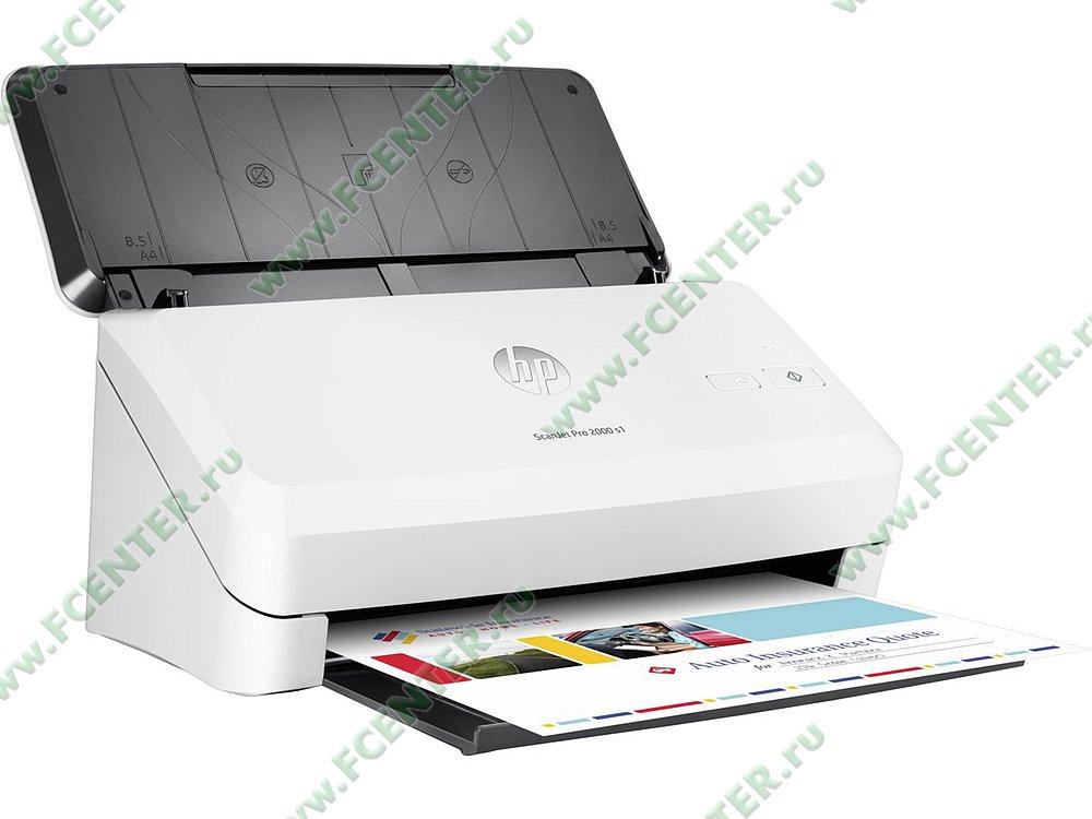 """Сканер HP """"ScanJet Pro 2000 s1"""" A4 (USB2.0). Фото производителя."""