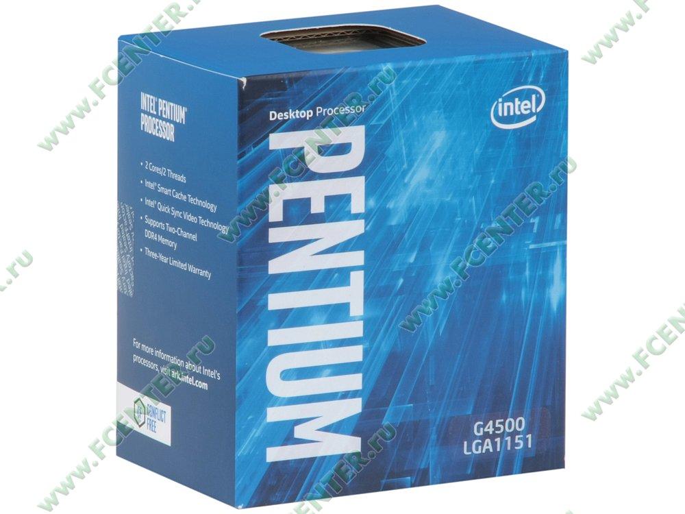"Процессор Intel ""Pentium G4500"" Socket1151. Коробка."