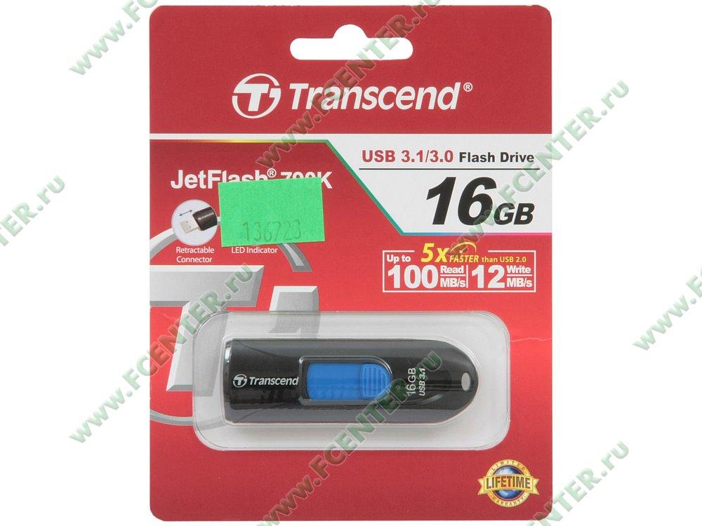 """Накопитель USB flash Накопитель USB flash 16ГБ Transcend """"JetFlash 790"""" TS16GJF790K . Коробка."""