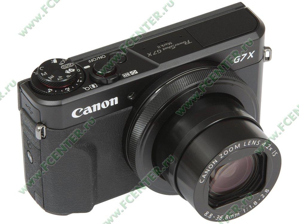"""Фотоаппарат Canon """"PowerShot G7 X Mark II"""". Вид спереди 1."""
