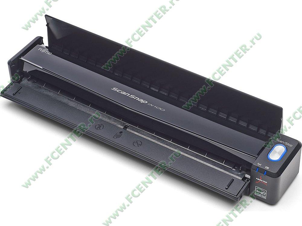 "Сканер Сканер Fujitsu ""ScanSnap iX100"" A4, 600x600dpi, черный . Фото производителя."