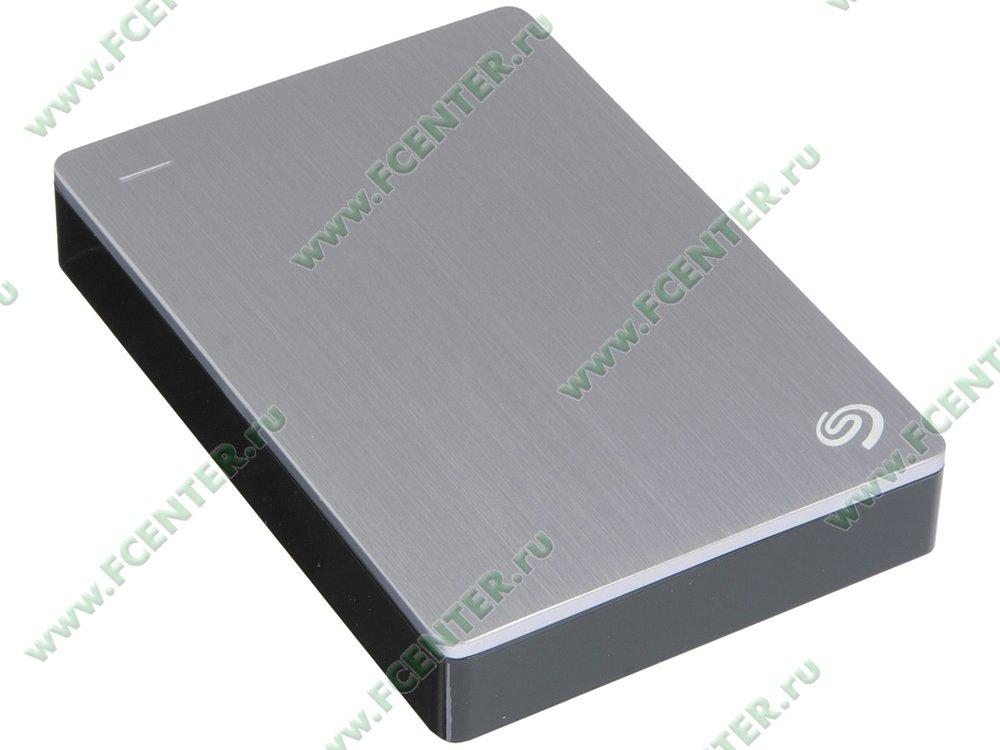 """Внешний жесткий диск 4ТБ Seagate """"Backup Plus STDR4000900"""" (USB3.0). Вид спереди."""