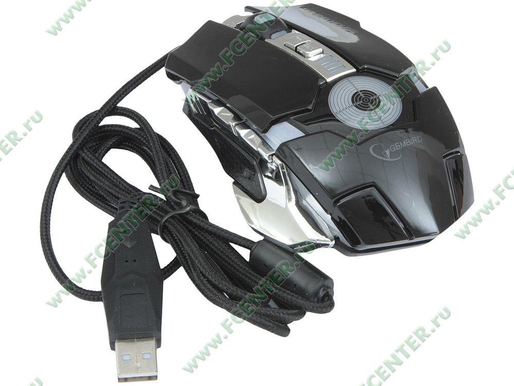 """Оптическая мышь Gembird """"MG-530"""" (USB). Вид спереди."""