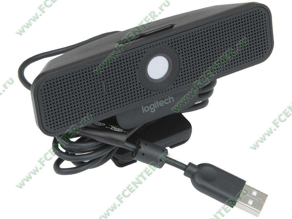 "Веб-камера Logitech ""C925e"" (USB2.0). Вид спереди."