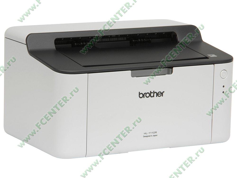 """Лазерный принтер Brother """"HL-1110R"""" A4 (USB2.0). Вид спереди 1."""