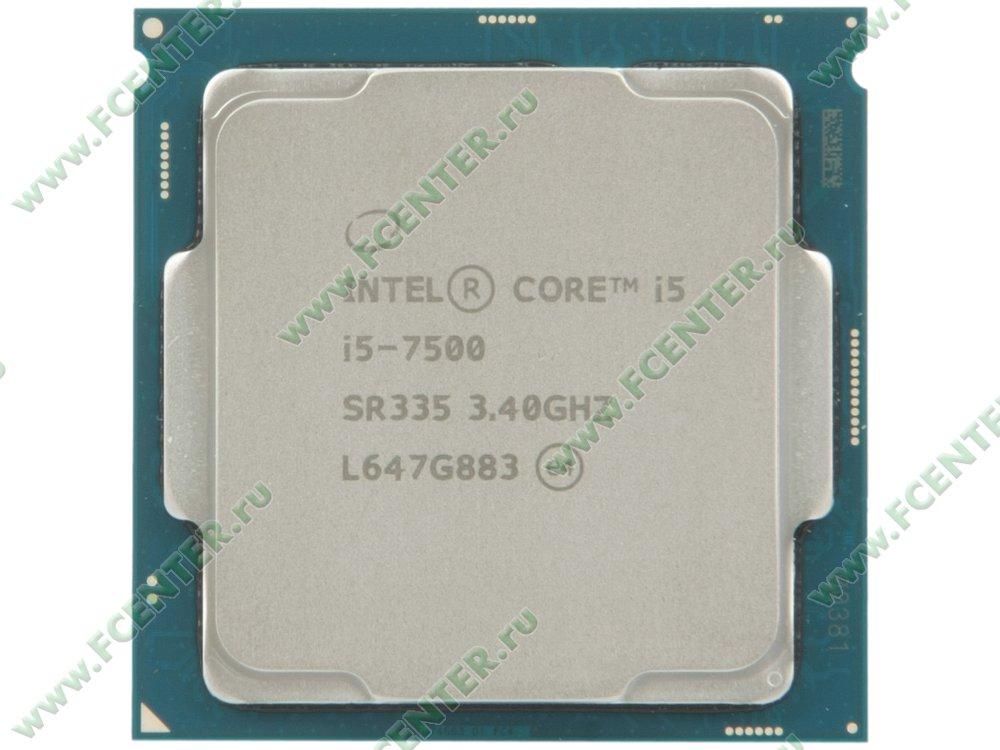 """Процессор Intel """"Core i5-7500"""" Socket1151. Вид сверху."""