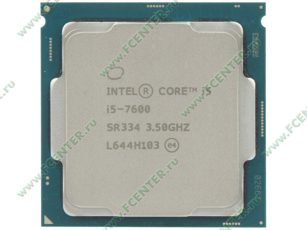 """Процессор Intel """"Core i5-7600"""" Socket1151. Вид сверху."""