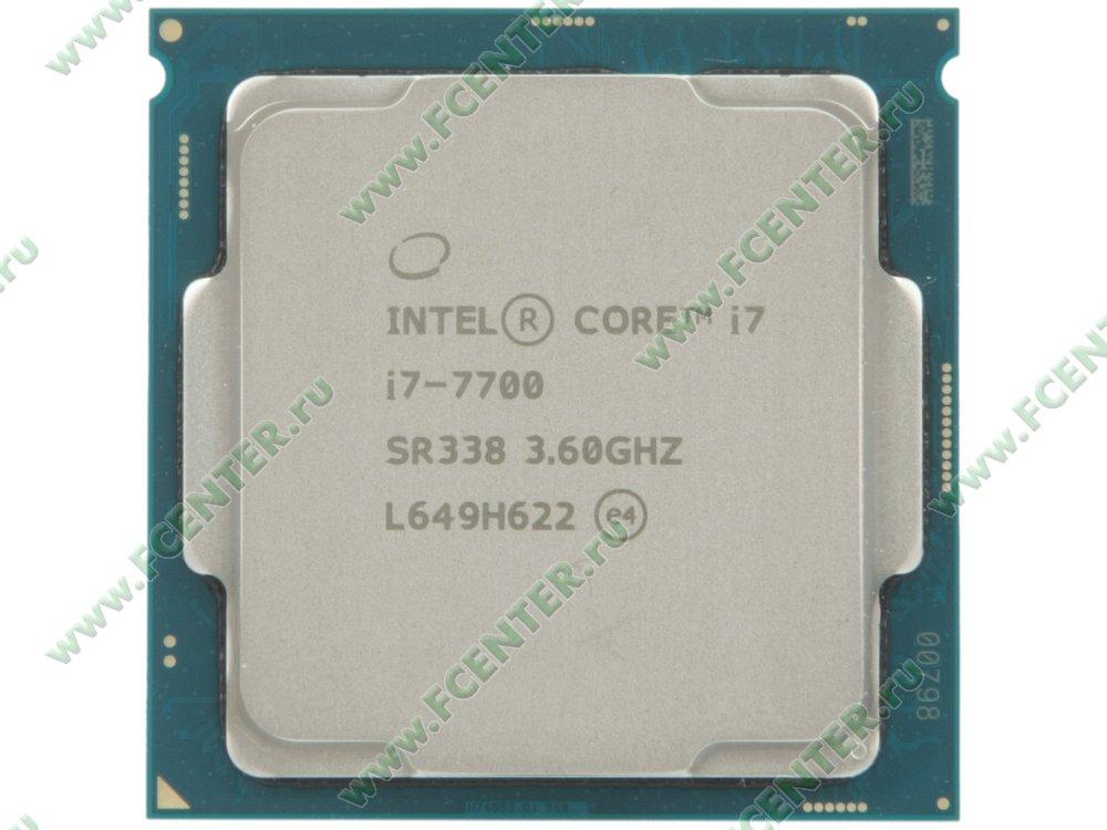 """Процессор Intel """"Core i7-7700"""" Socket1151. Вид сверху."""