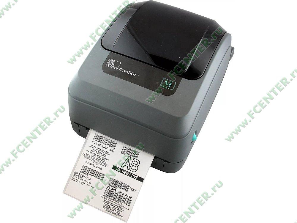 """Термотрансферный принтер Zebra """"Gx430t"""" (COM, LPT, USB). Фото производителя."""