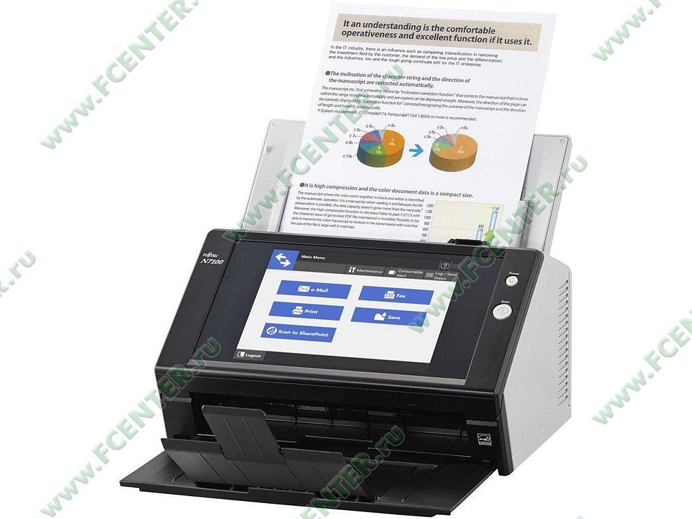 "Сканер Fujitsu ""ScanSnap N7100"" A4 (LAN). Фото производителя."