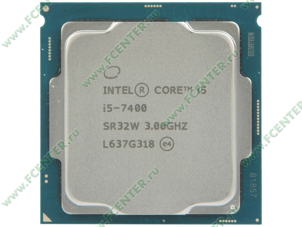 "Процессор Intel ""Core i5-7400"" Socket1151. Вид сверху."