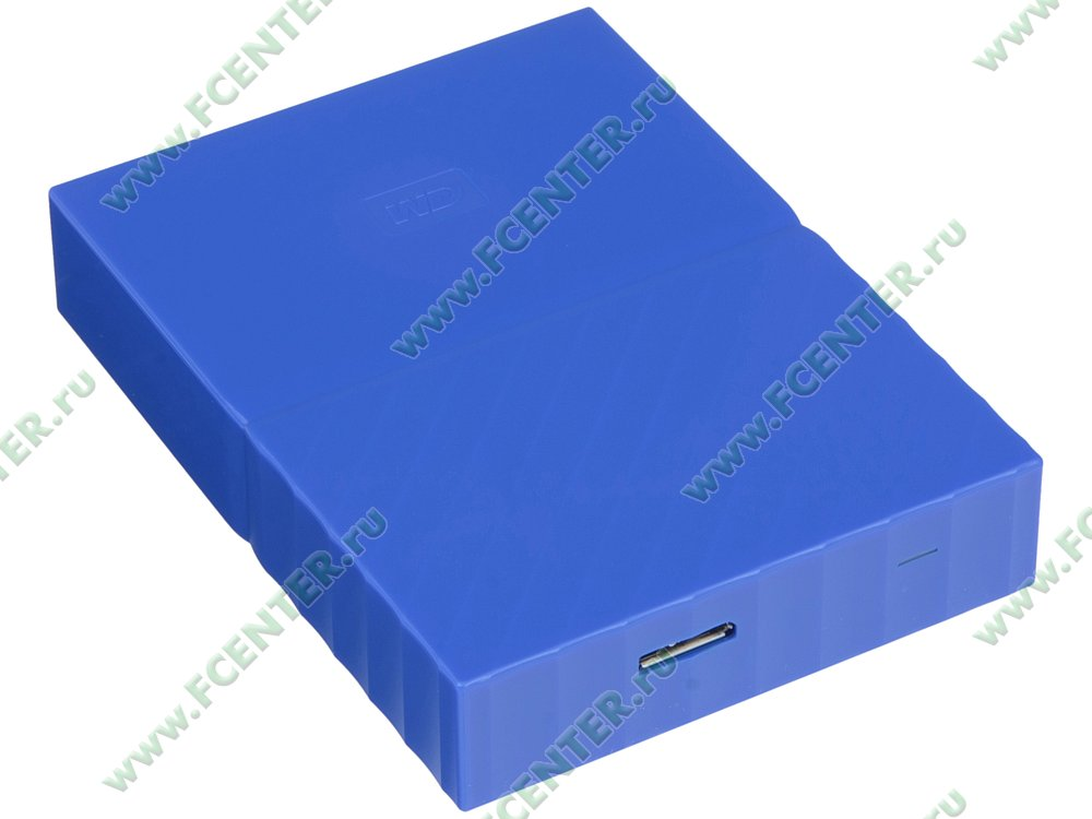 "Внешний жесткий диск 4ТБ Western Digital ""My Passport"" (USB3.0). Вид спереди."