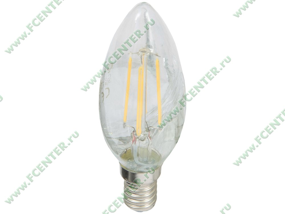"Лампа светодиодная Foton Lighting ""FL-LED Filament C35"". Вид спереди."