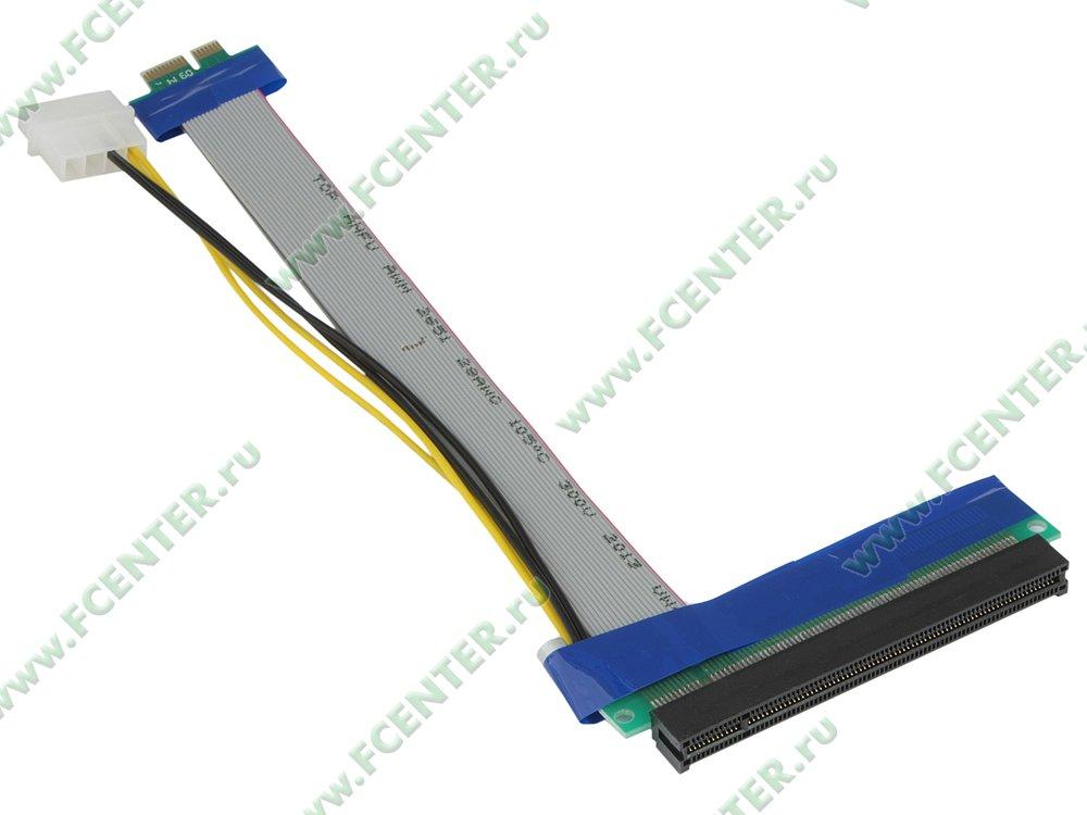 """Кабель-переходник PCI-E x1->PCI-E x16 Espada """"E PCIE X1-16p w"""" (oem)"""