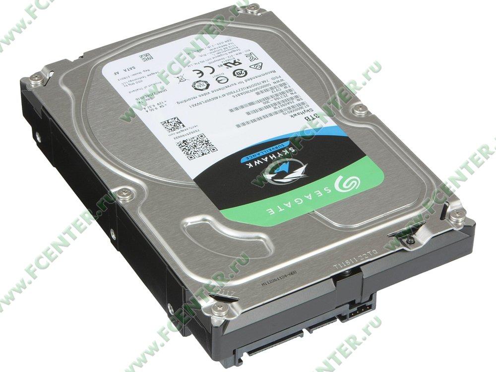 """Жесткий диск 3ТБ Seagate """"ST3000VX010"""" (SATA III). Вид спереди."""