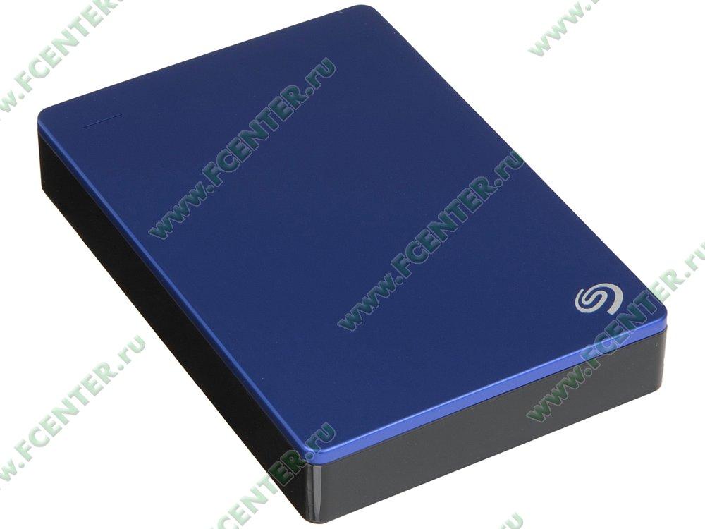 """Внешний жесткий диск 4ТБ Seagate """"Backup Plus STDR4000901"""" (USB3.0). Вид спереди."""