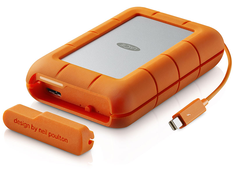 "Внешний жесткий диск 4ТБ LaCie ""Rugged RAID"" (USB3.0, Thunderbolt). Фото производителя."