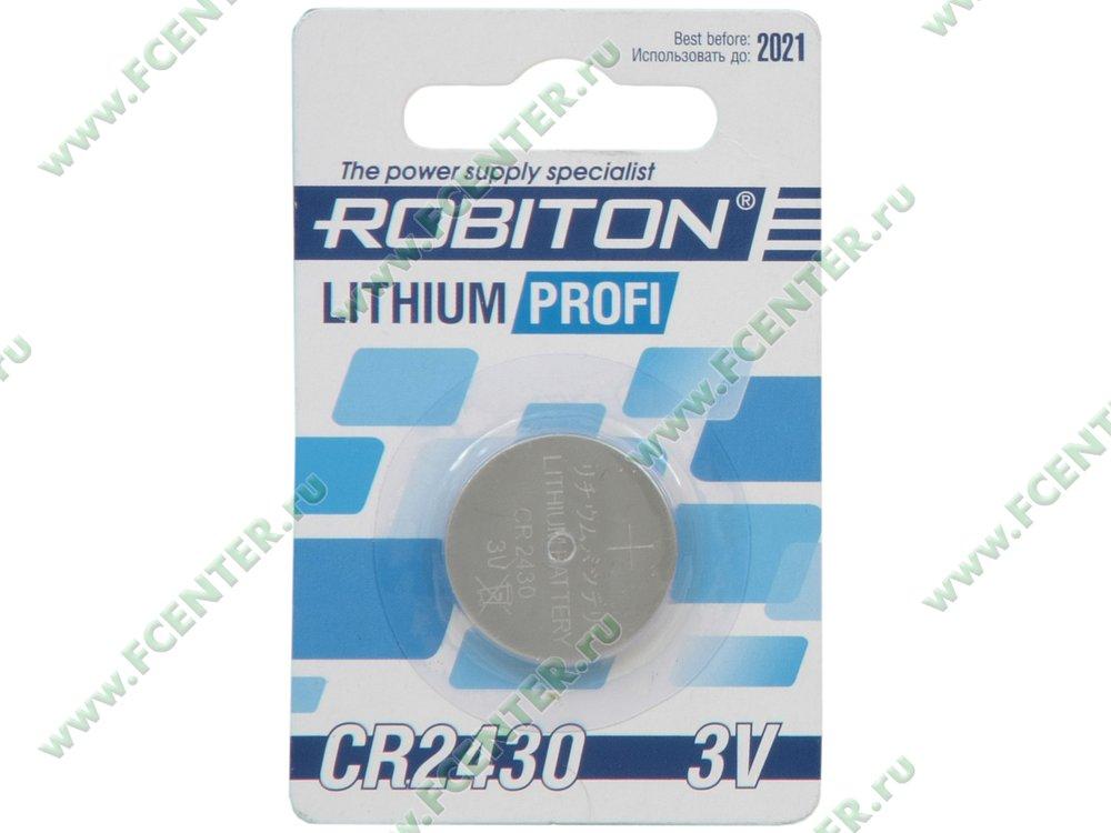 "Батарейка Robiton ""R-CR2430-BL1"". Коробка."