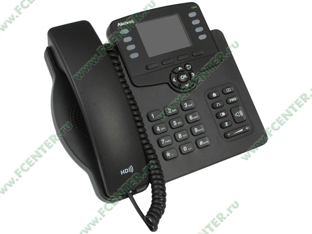"""VoIP-телефон VoIP-телефон Akuvox """"SP-R63G"""". Вид спереди."""