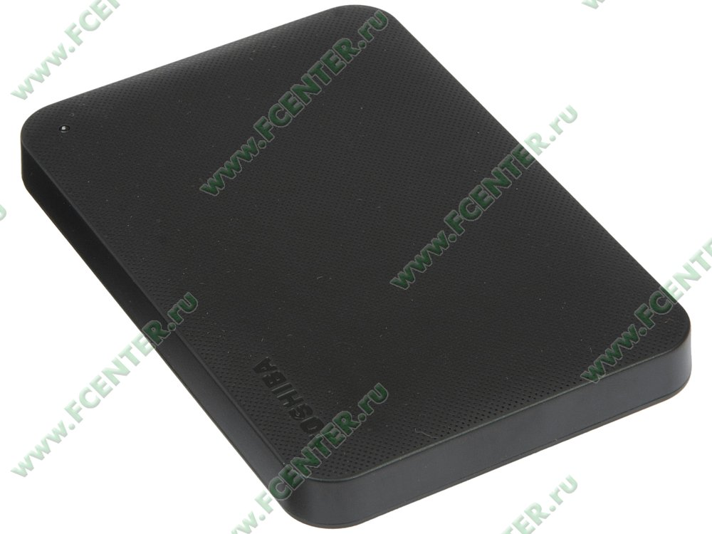 """Внешний жесткий диск 1ТБ Toshiba """"Canvio Ready"""" (USB3.0). Вид спереди."""